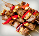 Rosso Piceno Grilled Steak Vegetable Skewers