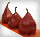 Cooked pear soaked in Visciola